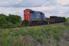 Short but Fast L595 (Wide Cab) Tags: cn train local freight gtw canadiannational manifest grandtrunkwestern l595 neenahsub waupacajob dalewi