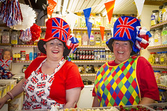 100_1449_09-06-12 (homewurks) Tags: street old blue ladies red party woman white smile face hat smiling lady female laughing john jack happy photography pom bottle warrington women ribbons place cheshire bottles market sweet top jubilee flag teeth union hats happiness stall indoor flags queen diamond celebration indoors queens celebrations photograph laugh jar sweets laughter ribbon females jacks redwhiteandblue celebrate jars pompoms hopkins smock overall pompom bunting johnhopkinsphotography homewurks