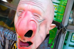 Snot-Nosed Old Man (Steve Snodgrass) Tags: old man face nose stand mask rubber lemonade snot nasal mucus