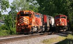 The A Team (Wide Cab) Tags: cn train work freight canadiannational highball manifest neenahwi a447 a491 neenahsub neenahyard neenahcontrolledsiding