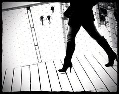 Six ~ La Passerelle ~ Paris ~ MjYj (MjYj) Tags: world life city blue light urban woman sun white man black paris france sexy texture love public beauty silhouette contrast dark french gold soleil cool fantastic pretty solitude day hand close time lumire femme bleu amour romantic eden temps six tones reflets chronicles ville homme passant encounters espoir passerelle mjyj mjyj