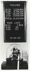 Ticker Tape Machine and Volume Board photograph, 1929 (FinanceMuseum) Tags: wallstreet financial greatdepression 1929 stockmarket tickertape stockmarketcrash crashof1929