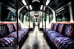 All Aboard the Ghost Train! (Aaron Yeoman) Tags: city uk greatbritain travel blue red england urban london lines station train dark europe unitedkingdom empty sony curves transport gritty symmetry line seats transportation gb symmetrical tubestation londonunderground alpha curve vignetting vignette hdr highdynamicrange thetube tubetrain lul theunderground bakerlooline metrotrain a700 undergroundtrain fluorescentlamp tamronspaf1750mmf28xrdiii railtransport sonyalpha700 dslra700 maidavaleundergroundstation maidavaletubestation