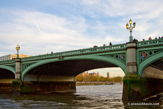 Westminster Bridge From Cruise Pier, London