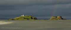 The End Of The Rainbow (ajp~) Tags: longexposure sea panorama lighthouse canon landscape island coast scotland rainbow firthofforth 6d eastlothian fidra yellowcraigs direlton vision:clouds=0781 vision:sky=0905 vision:outdoor=0985
