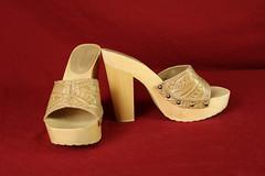 Size 7.5 Tan Colin Stuart Sandals (Fanta_Productions) Tags: highheels sandals highheelsandals platformheels colinstuart tanshoes studdecorations giftedshoes