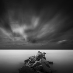 Hypnotic (Muhammad Rafiuddin) Tags: longexposure blackandwhite bw indonesia landscape cool nikon mood best beautifull blackdiamond makassar landscapesdreams d5100 siksakamera