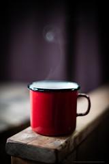 Steaming cup of coffee - 20140422 Featherdown Farm DSC_3518.jpg (PowderPhotography) Tags: morning red white cup coffee easter 50mm early nikon carlton f14 bedfordshire steam mug april swirl nikkor enamel 2014 newbarnfarm d700 featherdownfarm