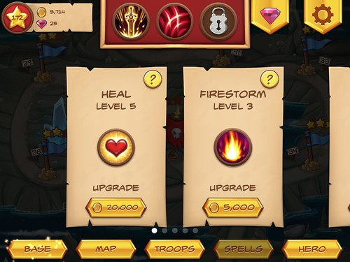 Royal Revolt! Items Store: screenshots, UI