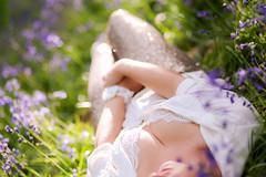 Hyacinth lady (Matamat) Tags: flowers sexy girl forest spring pretty purple underwear hyacinth