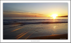 a beautiful greeting (Say HI hiskens images) Tags: ocean sea sky beach nature water beautiful beauty clouds sunrise fishing sand shoreline australia bluesky coastal sunup saltwater seawater nakednature hiskensimages geoffreyhiskens