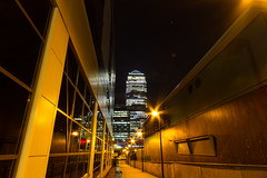 Roads of London (1 of 18) (johnlinford) Tags: city longexposure england urban london night landscape lights poplar unitedkingdom 7d gb docklands canonefs1022 canoneos7d