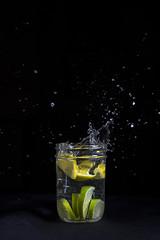 Flying Fruit_DSC4613 (Adam Knight Photography) Tags: fruit flash freeze splash