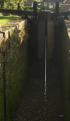 _DSC2125 (slackest2) Tags: morning light england water sunrise canal doors cheshire lock walls marple