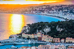 Nice (KDR Pictures) Tags: sunset sea panorama mer canon landscape paysage frenchriviera tamron70300mm couchedesoleil nicectedazur eos60d