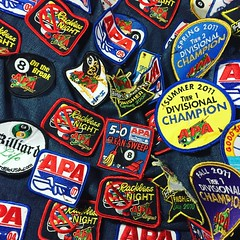 Mom's Pool Shirt (Beyond Sweet) Tags: game pool shark billiards patch apa patches
