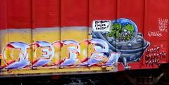 mers (timetomakethepasta) Tags: mers yat moniker dozer inter galactic fame intergalactic freight train graffiti art boxcar aliens ufo