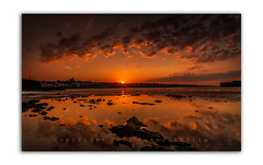 The Last Flicker (RonnieLMills) Tags: county ireland sun reflections landscape nikon angle harbour tide low wide down northern setting tamron donaghadee 1024 d90