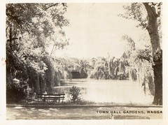 Town Hall Gardens (Daddys 'lil Girl) Tags: postcard australia nsw historical 1949 wagga albury riverina