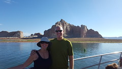 Two-hour boat trip on Lake Powell to get to Rainbow Bridge
