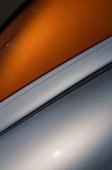 Sublime 2 (mattpete) Tags: auto orange detail car metal silver automobile paint sparkle primo custom curve pinstripe