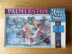 Vintage jigsaw box (pefkosmad) Tags: old vintage box palmerston hobby used puzzle leisure jigsaw secondhand pastime towerpress 1000pieces themillstream