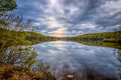The-Sky-Is-Falling (desouto) Tags: sky snow nature water clouds stream stones lakes ponds hdr