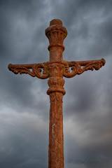 Old Iron (JPaulTierney) Tags: ireland sky dublin lamp june canon rust iron cross post hdr 2016 loughshinny 7dmkii