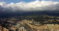 Genoa from above (Gregor  Samsa) Tags: city italy town italia aerial fromabove genoa
