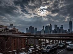 Before Sunset (Vanili11) Tags: new york city nyc travel bridge urban usa tower tourism skyline architecture brooklyn america river downtown view manhattan famous scenic landmark panoramic states lower brooklin