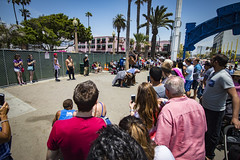 Guy Flipping Over People (etzel42) Tags: ocean california santa ca pier santamonica socal monica boardwalk westcoast