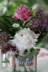 June Bouquet (CCphotoworks) Tags: flowers summer nature june colorful pretty bokeh bouquet flowerbouquet lilacs peonies summerbouquet