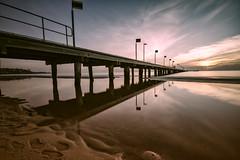 Frankston Pier (Thunder1203) Tags: beach canoneos7d frankstonpier hoyafilters landscape longexposure morningtonpeninsula portphillipbay sandsea seascape sigma1020f4f56 sky sunset thunder1203 victoria water horizon wideangle