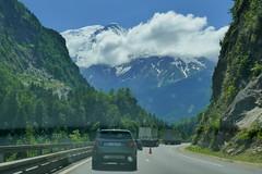 mont blanc high above the motorway (eikzilla) Tags: france alps chamonix montblanc