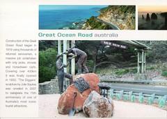 Great Ocean Road Australia (Liz Pidgeon) Tags: memorial postcard greatoceanroad torquay sculpture road