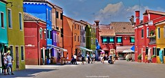 it's more colourful in burano! (Rex Montalban Photography) Tags: venice italy panorama europe venezia stitched hdr burano hss photomatix colourfulbuildings rexmontalbanphotography silderssunday