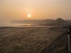 Play misty for me. (paul downing) Tags: beach misty sunrise canon spring pdp saltburnbythesea coastaluk pd1001 sx10is pauldowning