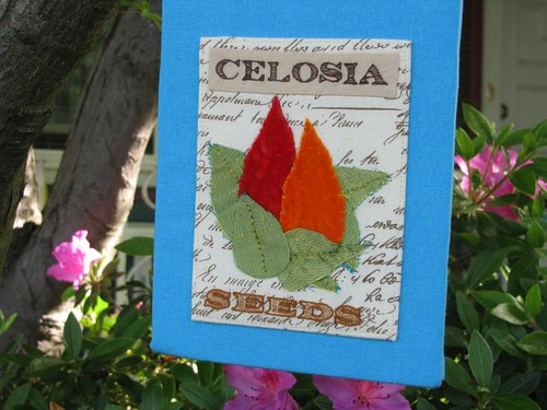 Vintage Seed Packet Wall Art (celosia detail)
