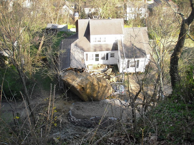 Athens (OH) Rockfall: Boulder Crushes Car, Hits House
