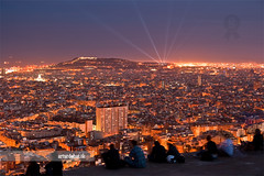 Barcelona at night (arturii!) Tags: barcelona city blue sea sky people costa color night speed wow de landscape lights la mar amazing nice interesting movement europa europe long nightscape superb awesome capital great cel catalonia exposition gaudi stunning nocturna catalunya barcelone nit gettyimages ciutat llum paisatge timing mediterranian rovira catalogne turo impresssive canoneos400d colorphotoaward ebauty arturii arturdebat
