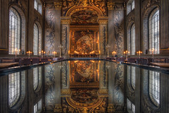 The Painted Hall (TheFella) Tags: uk longexposure greatbritain england reflection slr london architecture digital photoshop canon table eos hall photo high shiny europe dynamic unitedkingdom interior painted capital greenwich dininghall explore photograph processing slowshutter gb 5d inside christopherwren ornate dslr range hdr highdynamicrange markii postprocessing nicholashawksmoor paintedhall oldroyalnavalcollege photomatix explored thepaintedhall kingwilliamcourt thefella 5dmarkii conormacneill thefellaphotography finestdininghallineurope
