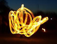 Inferno on legs (The original SimonB) Tags: lighting june fire suffolk jubilee flames olympus beacon felixstowe 2012 e420