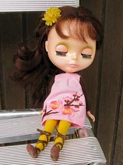 Petunia (Helena / Funny Bunny) Tags: vintage doll kenner blythe petunia 1972 kennerblythe funnybunny petuniakibbles pinksmocks fbfashion