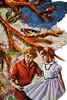 A Fool's Paradise Close Up (carol powell) Tags: city trees people flower rabbit bird thread girl hair monkey woodpecker sleep sewing text dream deer robots fabric lemur poppies owl sloth raccoon doilies foolsparadise carolpowell