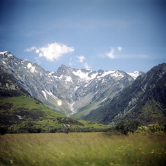(*YIP*) Tags: newzealand summer cloud mountain snow 120 6x6 film nature mediumformat square outdoors photography day kodak nopeople mtcook southisland epson majestic kiev scenics clearsky mountainrange tranquilscene kiev60 yip mtcooknationalpark iso160 traveldestinations colorimage v500 physicalgeography coldtemperature yipchoonhong