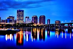 Richmond skyline (tfinzel) Tags: blue skyline virginia twilight nikon cityscape richmond civil va hour hdr d4 worldhdr