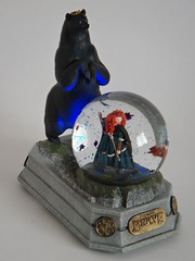 Brave Princess Merida Snowglobe - Blowing In The Daylight - Full Left Front View (drj1828) Tags: lights store princess disney led merida pixar brave snowglobe blower