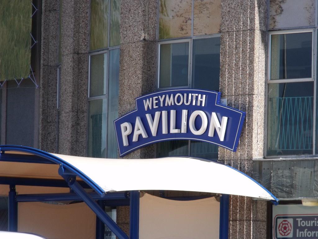 Weymouth Pavilion - sign