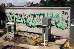 Jetza Flem PBS (Alex Ellison) Tags: urban graffiti jets jet pbs trackside northlondon flem jetza