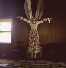Finding Faith in Broken Homes (Kyle.Thompson) Tags: portrait house abandoned girl fly air floating levitation rope 365 cloth lifted